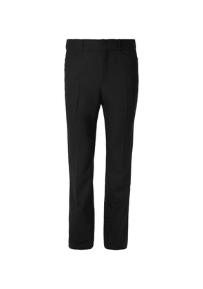 Saint Laurent - Wide-leg Virgin Wool Trousers - Black
