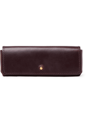Cubitts - Leather Glasses Case - Burgundy