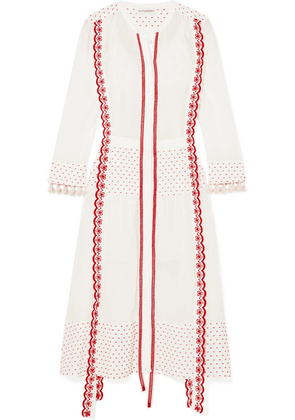 Altuzarra - Grenelle Broderie Anglaise-trimmed Swiss-dot Cotton And Chiffon Midi Dress - White
