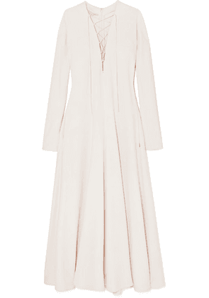 Stella McCartney - Lace-up Cady Maxi Dress - Cream