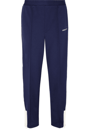 AMBUSH® - Striped Stretch-jersey Track Pants - Navy