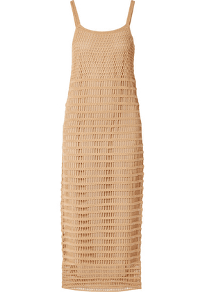 Elizabeth and James - Edna Crocheted Cotton Maxi Dress - Sand
