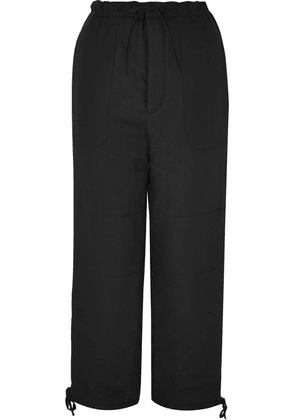 AMBUSH® - Linen Straight-leg Pants - Black