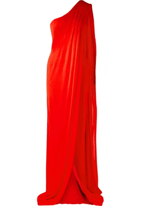 TOM FORD - One-shoulder Draped Jersey Gown - Red