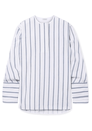 By Malene Birger - Striped Cotton-poplin Shirt - Blue