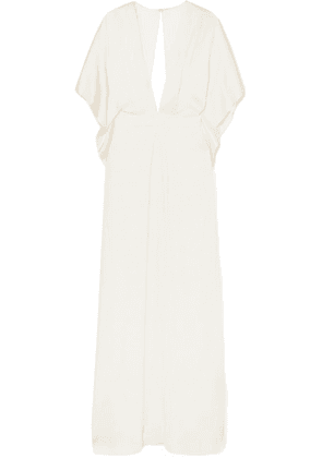 Temperley London - Cape-effect Silk-satin Gown - Ivory