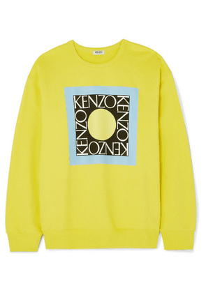 KENZO - Comfort Printed Cotton-jersey Sweater - Yellow