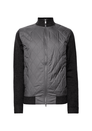 Dunhill Links - Bunbury Quilted Shell And Wool Bomber Jacket - Gray
