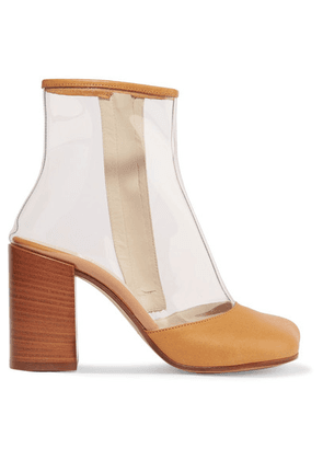 MM6 Maison Margiela - Leather-trimmed Pvc Ankle Boots - Beige