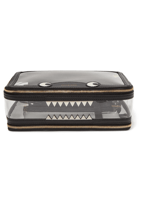 Anya Hindmarch - Monster Inflight Leather-trimmed Perspex Cosmetics Case - Black