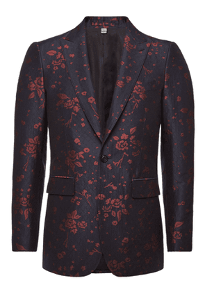 Burberry Printed Blazer with Wool and Cotton
