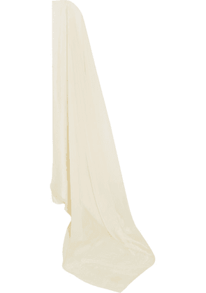 Etro - Silk-blend Chiffon And Jacquard Veil - Ivory