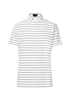 Dunhill Links - Lonsdale Striped Tech-jersey Golf Polo Shirt - White