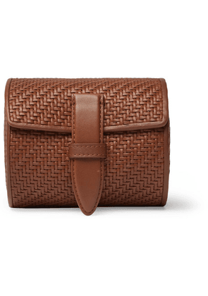 Ermenegildo Zegna - Pelletessuta Leather Watch Roll - Tan