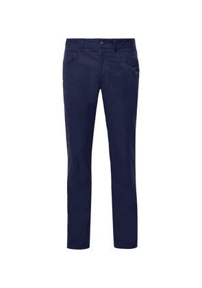 Dunhill Links - Slim-fit Twill Golf Trousers - Navy