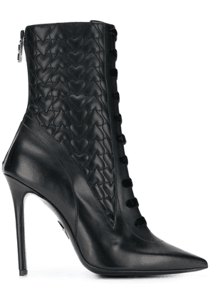 Aperlai hearts ankle boots - Black