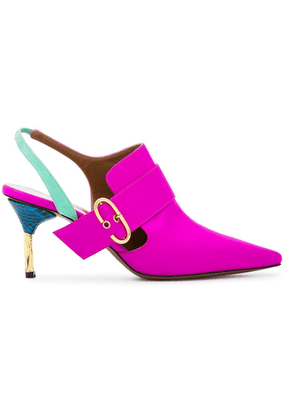 Darmaki Pink Holli 70 satin mules - Pink & Purple