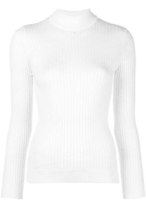 Courrèges turtleneck fitted sweater - White
