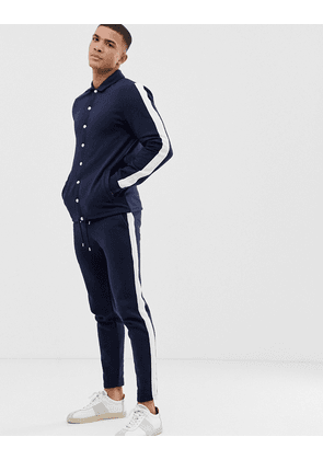 6fb24fb4 ASOS DESIGN track jacket/skinny joggers in poly tricot fabric with ...