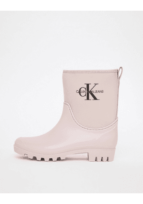 Calvin Klein Jeans Philippa pink ankle wellington boots