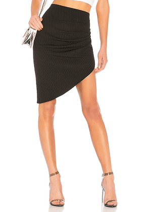 Baja East Contour Skirt in Black. Size 00.