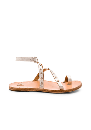 Beek Lorikeet Sandal in Metallic Gold. Size 36,39.
