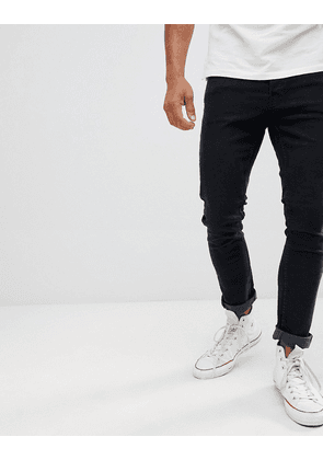 Jack & Jones Slim Tapered Jeans In Black Denim