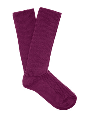 Isabel Marant - Ribbed Cotton Blend Socks - Womens - Purple