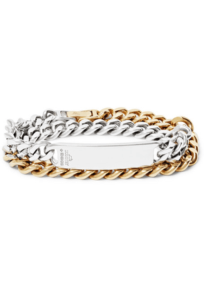 Bunney - Gold-dipped And Sterling Silver Id Wrap Bracelet - Silver