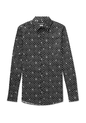 Dolce & Gabbana - Slim-fit Polka-dot Cotton-poplin Shirt - Black