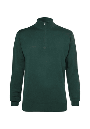 Dunhill Links - Merino Wool Half-zip Golf Sweater - Green