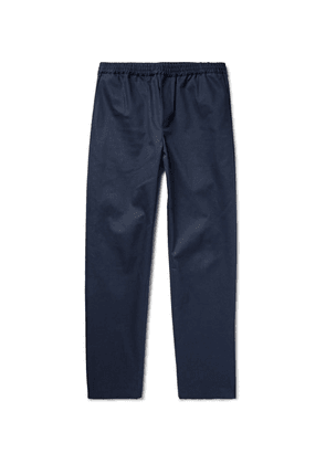 Fanmail - Organic Cotton-twill Drawstring Trousers - Midnight blue