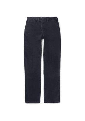 Cordings - Cattrick Slim-fit Garment-dyed Stretch-cotton Drill Trousers - Navy
