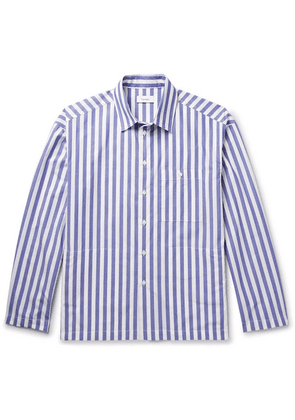 Fanmail - Striped Organic Cotton Shirt - Blue