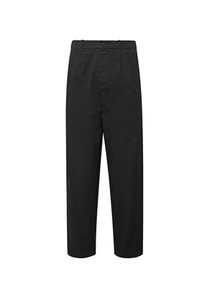 Fanmail - Cropped Pleated Organic Cotton Trousers - Black