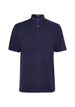 Dunhill Links - Cotton-jersey Golf Polo Shirt - Navy