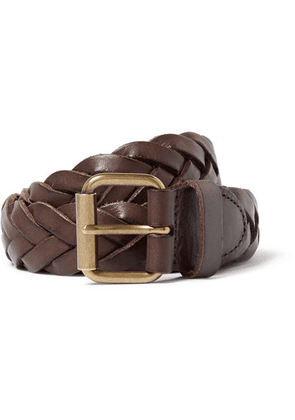 J.Crew - 3cm Brown Woven Leather Belt - Brown