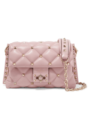 Valentino - Valentino Garavani Candystud Medium Quilted Leather Shoulder Bag - Pastel pink
