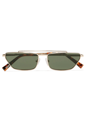 Le Specs - Electricool Square-frame Gold-tone And Tortoiseshell Acetate Sunglasses - one size