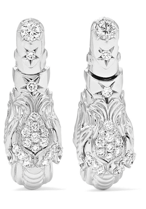 Gucci - Dionysus 18-karat White Gold Diamond Earrings - one size