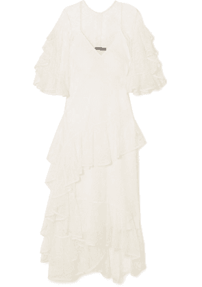 Ellery - Salon Ruffled Lace Gown - Ivory
