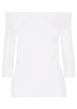 Helmut Lang - Off-the-shoulder Stretch-jersey Top - White