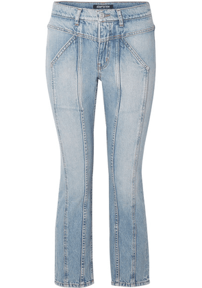 Adaptation - Rider Cropped Paneled High-rise Skinny Jeans - Mid denim