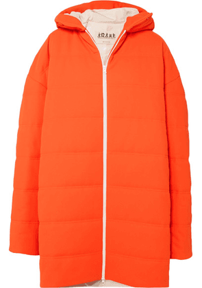 A.W.A.K.E. - Oversized Quilted Crepe Coat - Bright orange
