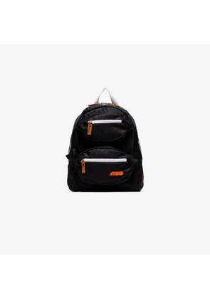 Heron Preston black and white Double front zip backpack