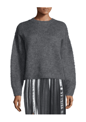 Clifton Oversized Knit Sweater, Gray