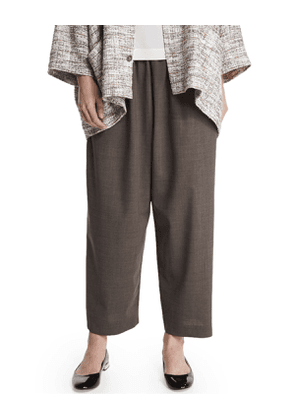 Japanese Lightweight Wool Trousers, Bison