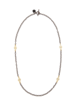Short Gold-Station Cable-Chain Necklace, 18'L