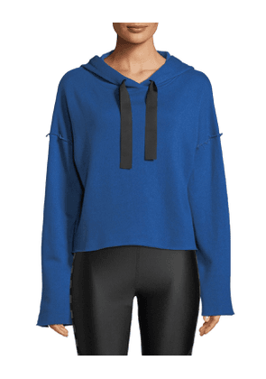 Stance Raw-Edge Cropped Hoodie
