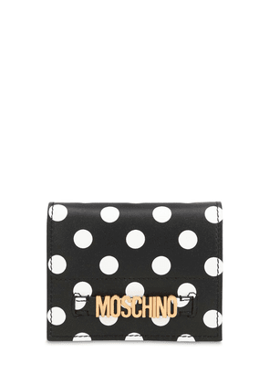 Dot Printed Leather Wallet